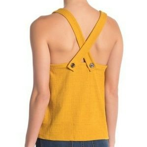 Madewell texture and thread apron tank top